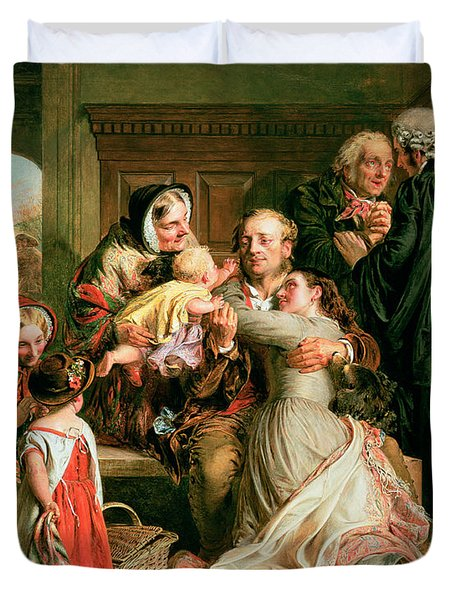 The Acquittal Duvet Cover by Abraham Solomon
