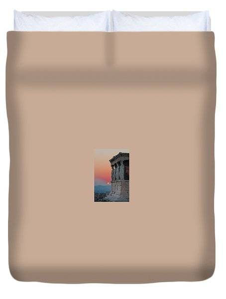 The Acropolis Of Athens Duvet Cover
