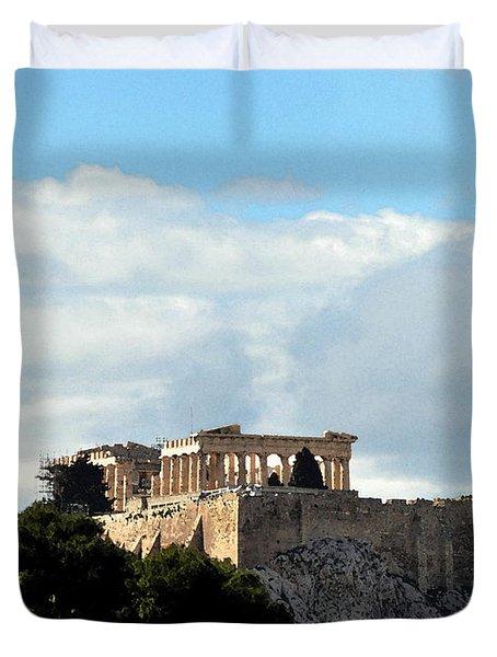 The Acropolis  Duvet Cover