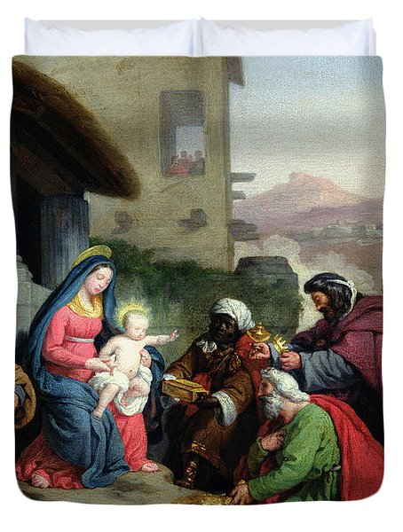 The Adoration Of The Magi Duvet Cover by Jean Pierre Granger