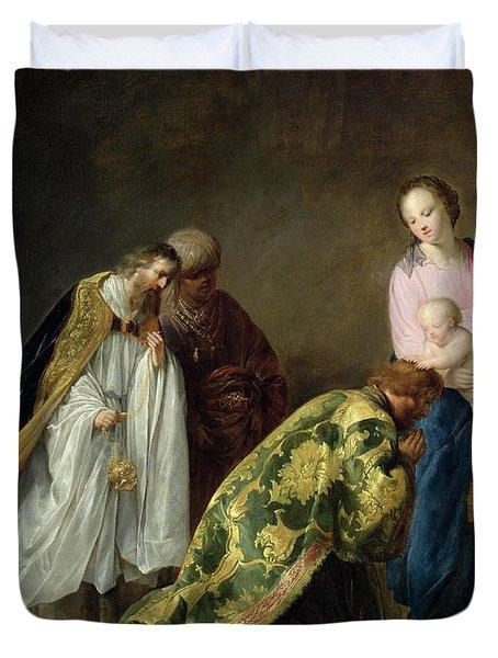 The Adoration Of The Magi Duvet Cover by Pieter Fransz de Grebber