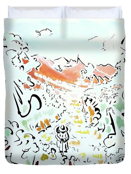 The Afternoon Walk Duvet Cover