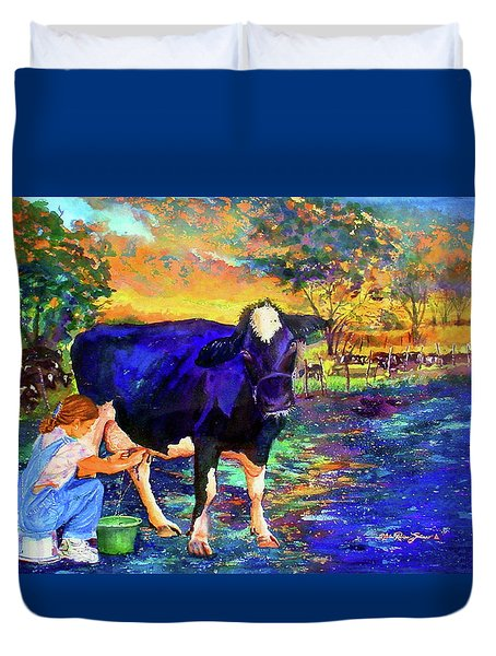 The Agronomist Duvet Cover by Estela Robles