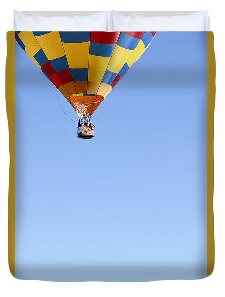 Duvet Cover featuring the photograph The Air Up There... by Kevin Munro