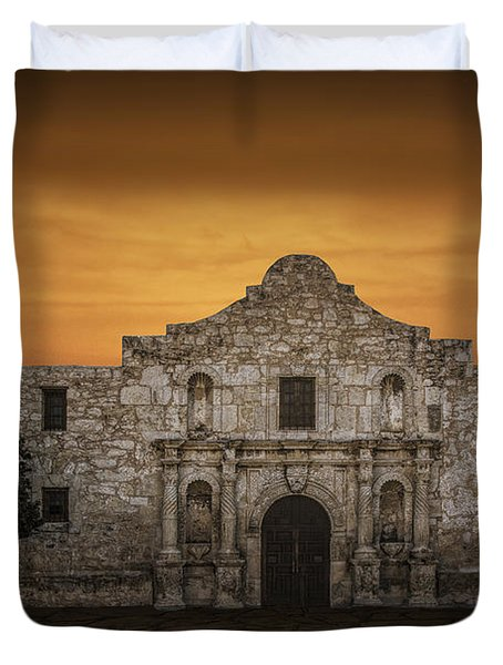 The Alamo Mission In San Antonio Duvet Cover