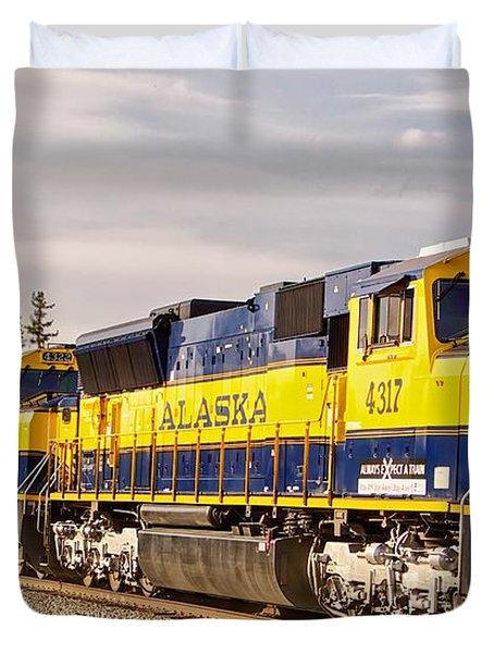 The Alaska Railroad Duvet Cover
