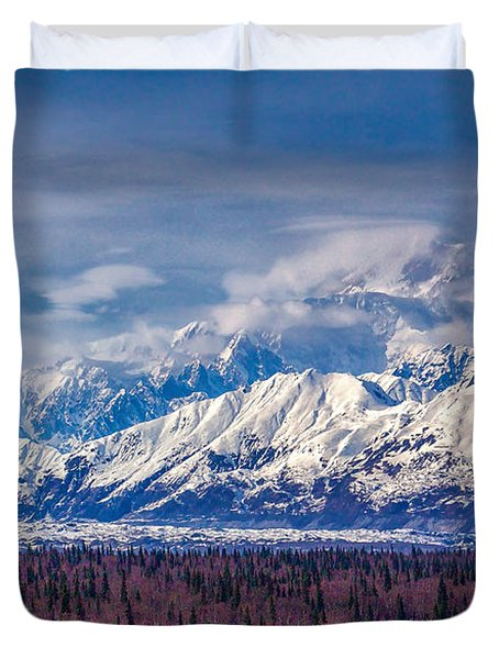 The Alaska Range At Mount Mckinley Alaska Duvet Cover