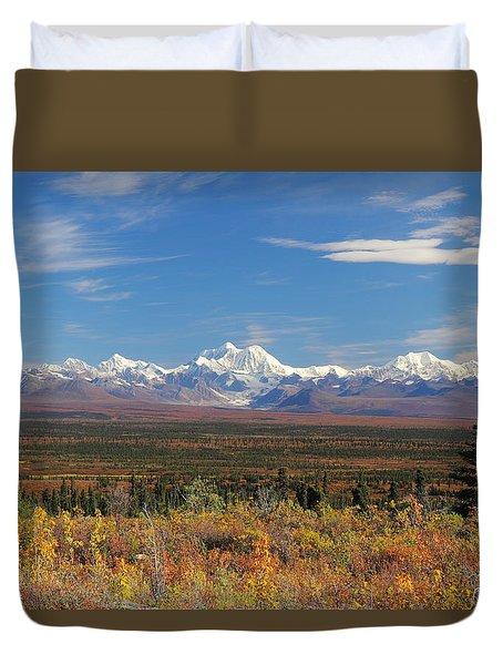 The Alaska Range From The Denali Highway Duvet Cover