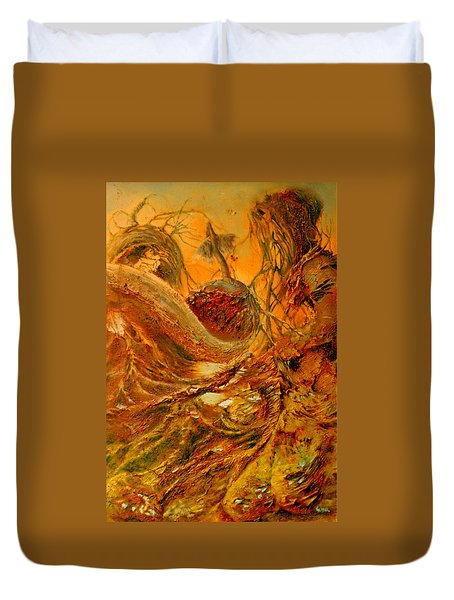 Duvet Cover featuring the painting The Alchemist by Henryk Gorecki