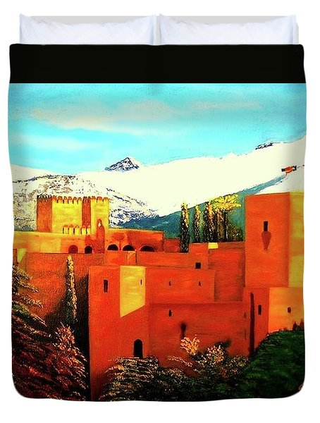 The Alhambra Of Granada Duvet Cover