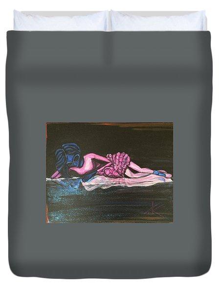 The Alien Ballerina Duvet Cover