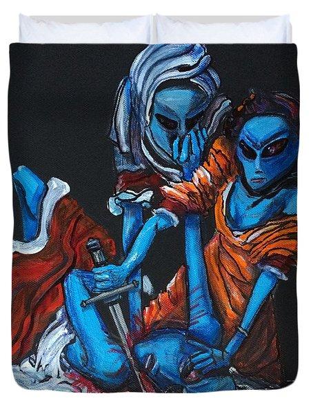 The Alien Judith Beheading The Alien Holofernes Duvet Cover