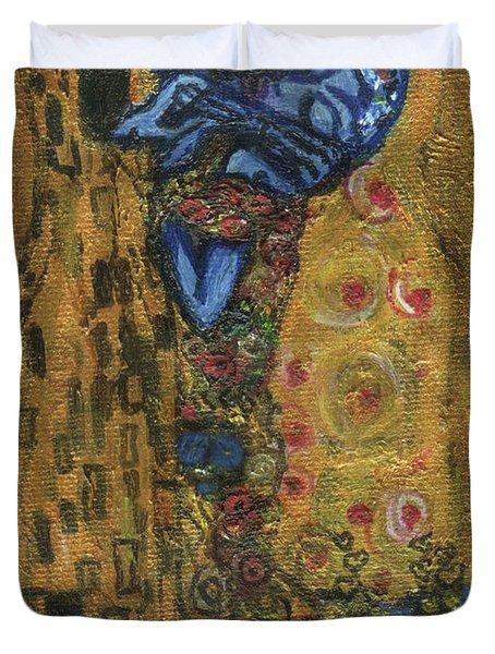 The Alien Kiss By Blastoff Klimt Duvet Cover