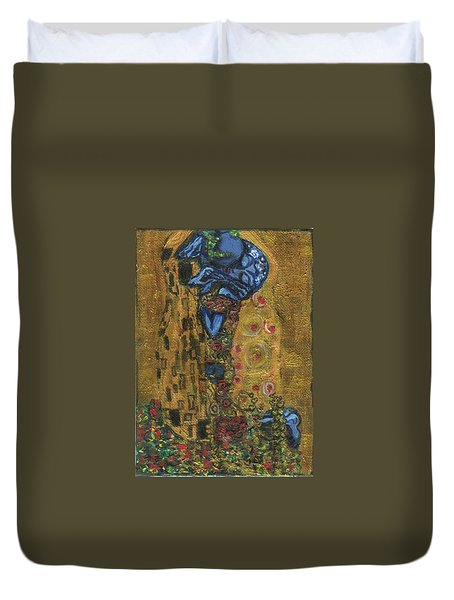 The Alien Kiss By Blastoff Klimt Duvet Cover
