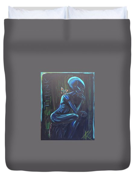 The Alien Thinker Duvet Cover