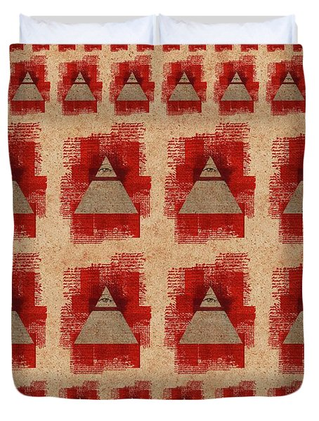 The All-seeing Eye Pyramid Pattern Duvet Cover