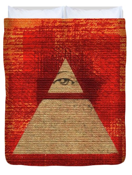 The All-seeing Eye Pyramid Duvet Cover