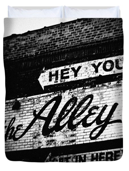 The Alley Chicago Duvet Cover