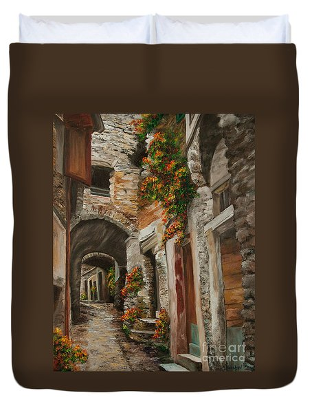 The Alleyway Duvet Cover by Charlotte Blanchard