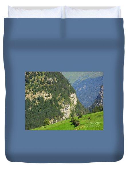 The Alps In Spring Duvet Cover