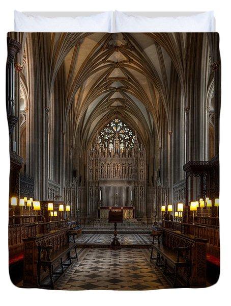 The Altar Duvet Cover by Adrian Evans