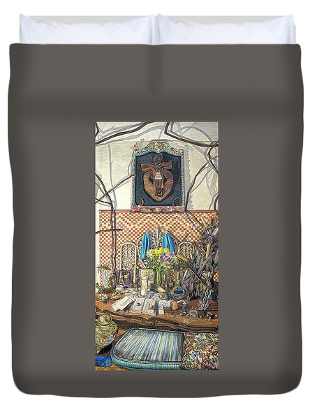 The Altar Duvet Cover by Bonnie Siracusa
