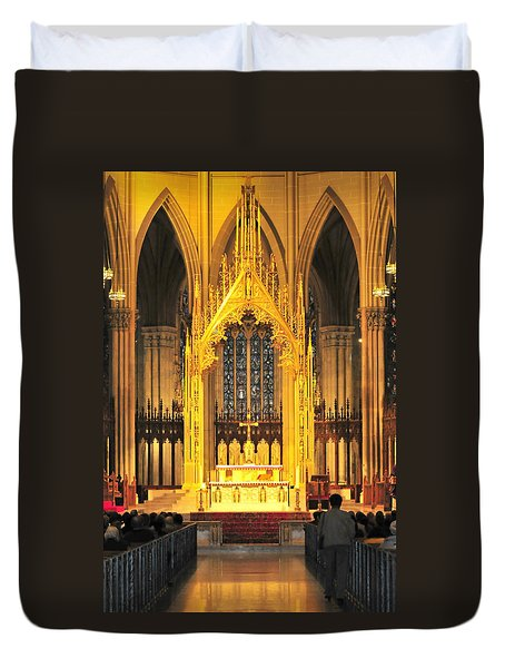 Duvet Cover featuring the photograph The Alter by Diana Angstadt