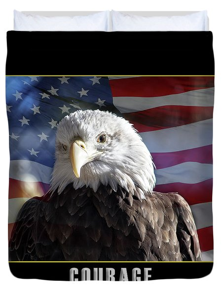 The American Bald Eagle Duvet Cover