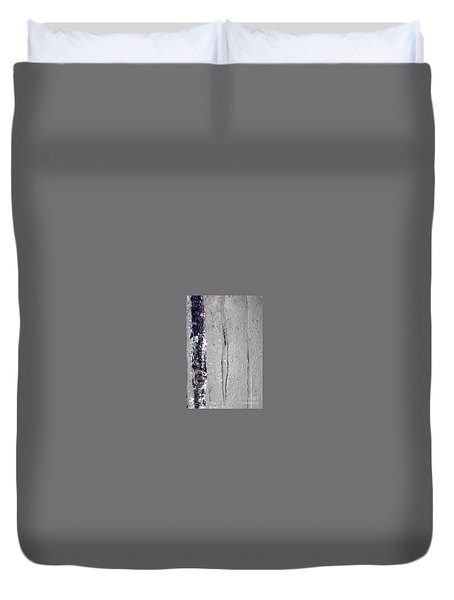 The Wall Of Amethyst Ice  Duvet Cover