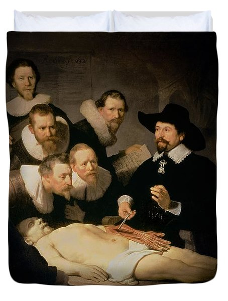 The Anatomy Lesson Of Doctor Nicolaes Tulp Duvet Cover by Rembrandt Harmenszoon van Rijn