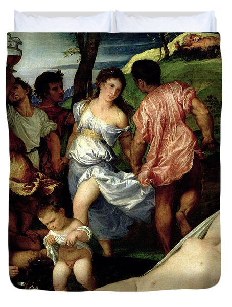 The Andrians Duvet Cover by Titian