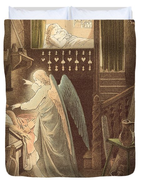 The Angel Appearing To Joseph Duvet Cover