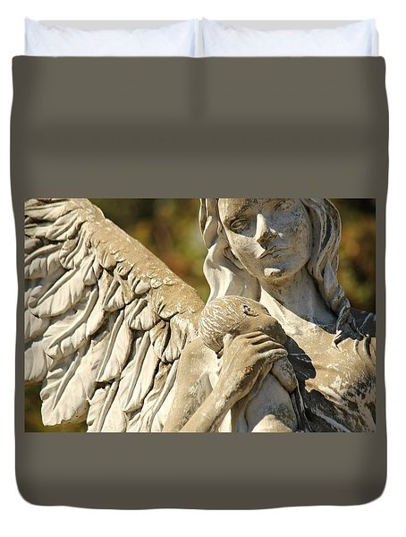 The Angel At St. Thomas Duvet Cover by Lynn Jordan
