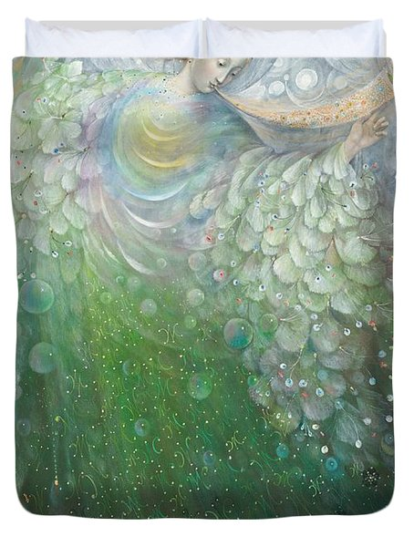 The Angel Of Growth Duvet Cover by Annael Anelia Pavlova