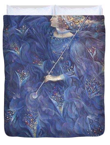 The Angel Of Power Duvet Cover by Annael Anelia Pavlova