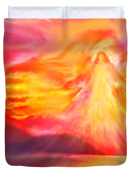 The Angel Of Protection Duvet Cover