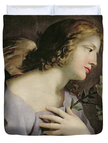 The Angel Of The Annunciation Duvet Cover by Giovanni Francesco Romanelli