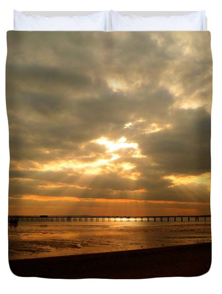 The Angels Are Calling Duvet Cover