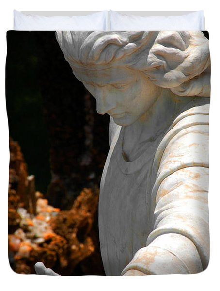 The Angels Warning Duvet Cover by Susanne Van Hulst