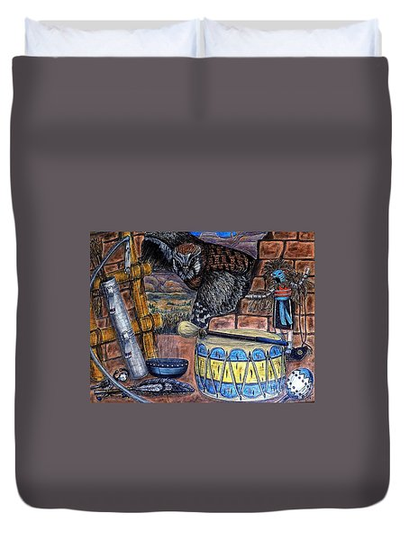 The Answer Comes Duvet Cover