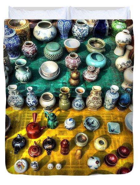 The Antique Market Duvet Cover by Michael Garyet