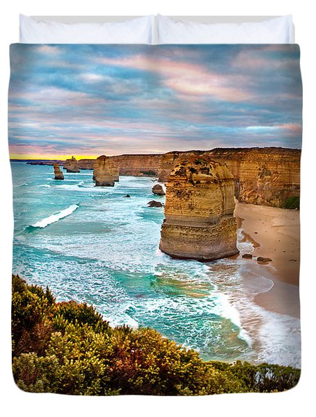 The Apostles Sunset Duvet Cover