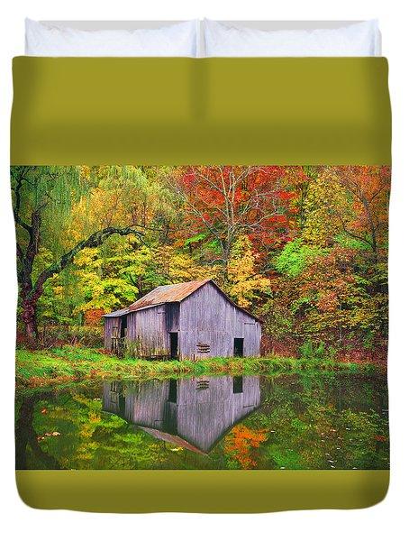The Appalachian Reflection Duvet Cover by Bijan Pirnia
