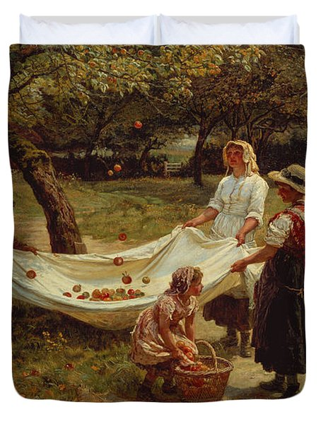 The Apple Gatherers Duvet Cover