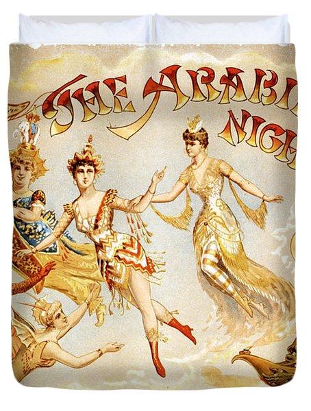 The Arabian Nights Burlesque Duvet Cover