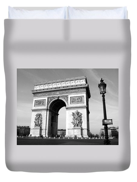 The Arc Di Triomph Duvet Cover