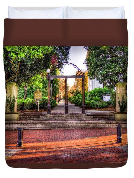 The Arch 4 University Of Georgia Arch Art Duvet Cover