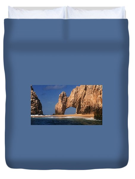 Duvet Cover featuring the photograph The Arch by Marna Edwards Flavell