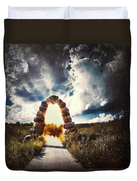 The Arch On The Edge Of Forever Duvet Cover