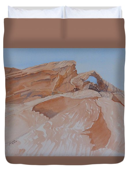 The Arch Rock Experiment - Vi Duvet Cover by Joel Deutsch